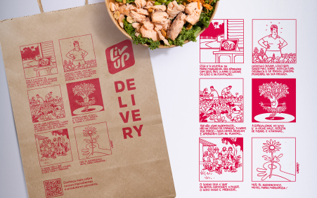 Laerte cria ilustração para novas sacolas de delivery da Liv…