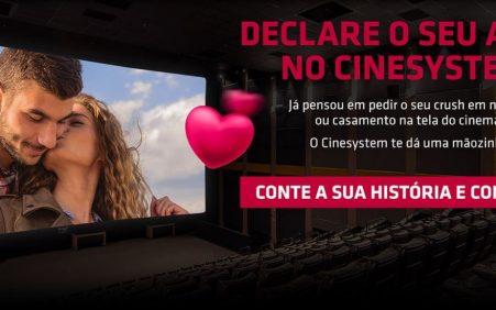 Concurso de dia dos namorados da Cinesystem disponibilizará sala de…
