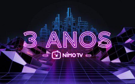 Nimo TV comemoração terceiro aniversário no Brasil com programação especial